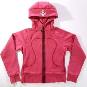 Lululemon Athletica Zip-Up Scuba Hoodie, Red